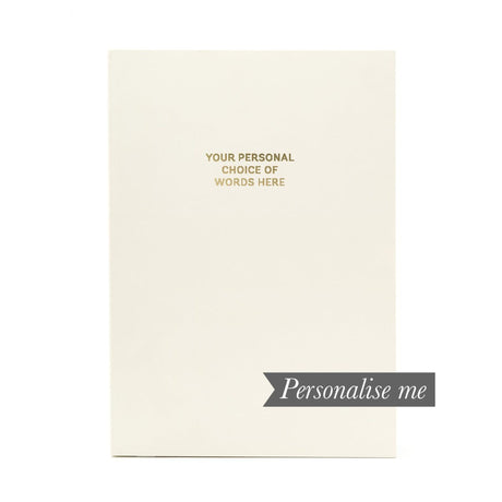 Personalised Notebook - Paper White