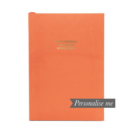 Personalised Notebook - Vivid Coral