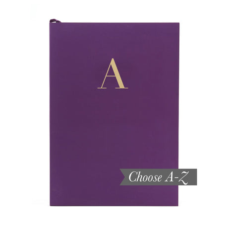 Monogram Notebook - Plum