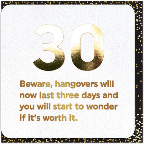 30th - Hangovers
