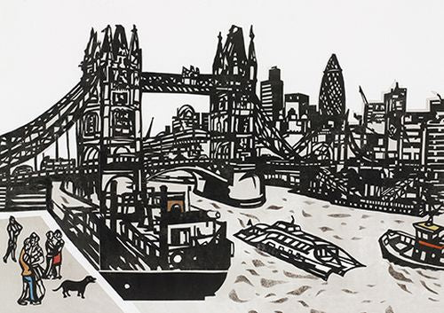 Royal Academy - Chris Orr - Dog at Tower Bridge