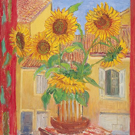 Frederick Gore - Sunflowers & house opposite, Bonnieux