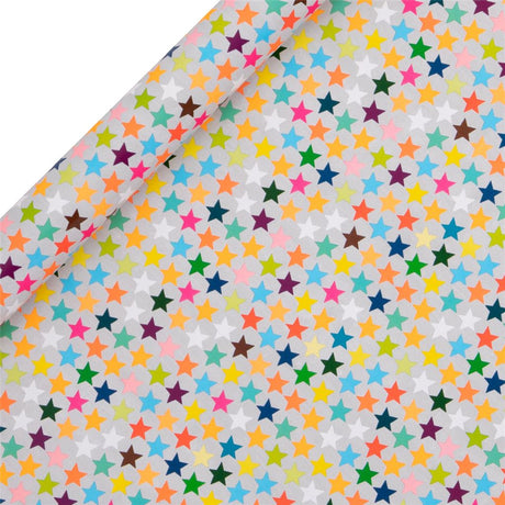 Glick - Multi Stars Roll Wrap 4M - Collection & Local Delivery Only