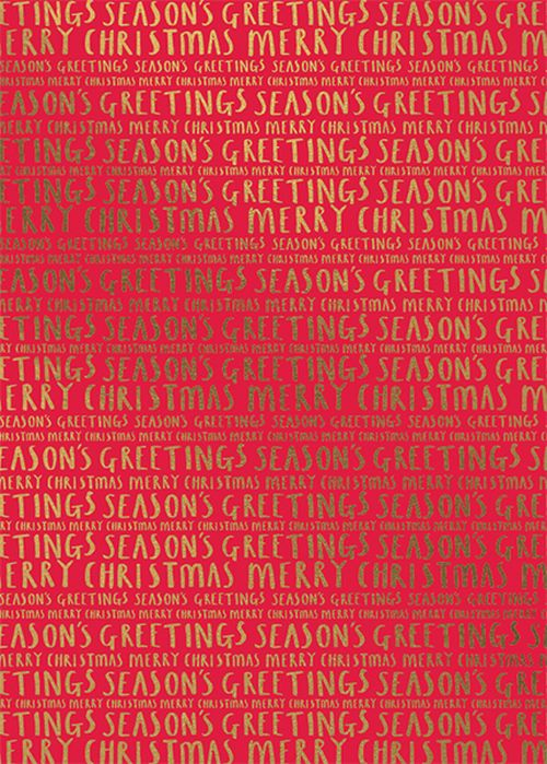 Art File - Christmas Text On Red 3M Roll (Collection & Delivery)