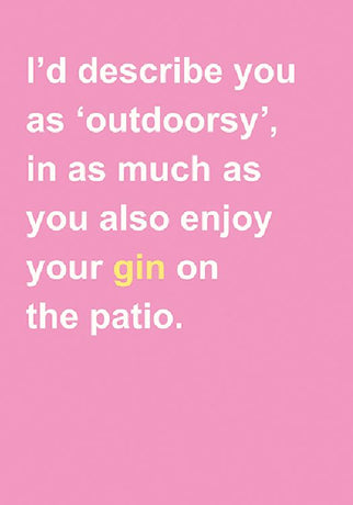 The Art File - Gin On The Patio