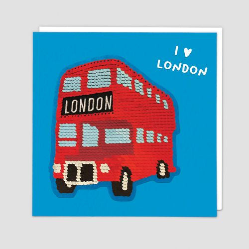 Redback - London Bus Sequin Patch