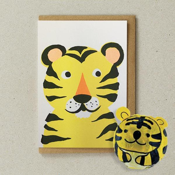 Petra Boase - Tiger Paper Balloon Card