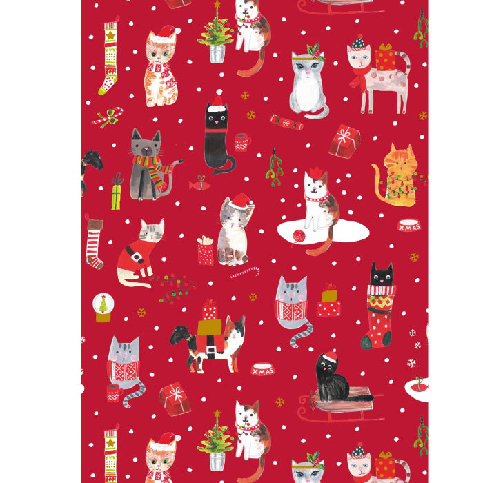 Glick - PS Xmas Cats Wrap 4M (Collection & Delivery)