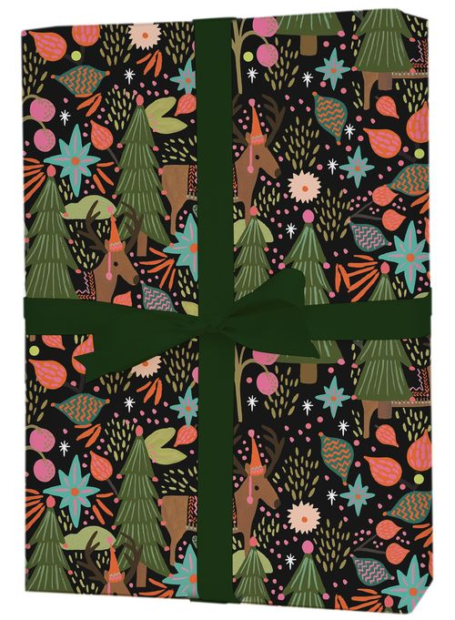 Rifle Paper - Feliz Navidad Flat Wrap (Collection & Delivery)