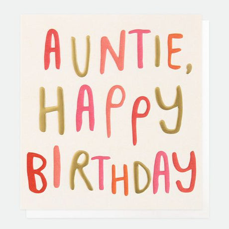 Caroline Gardner - Auntie Happy Birthday