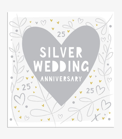 Think of Me -  Silver Wedding Heart