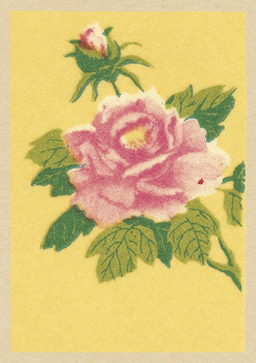Vintage Matchbox - Tickled Pink
