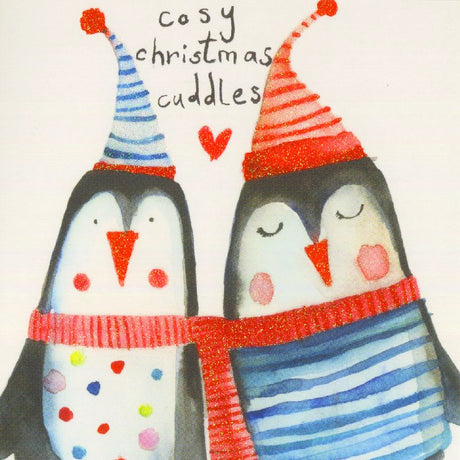 Cosy Christmas Cuddles Penguins