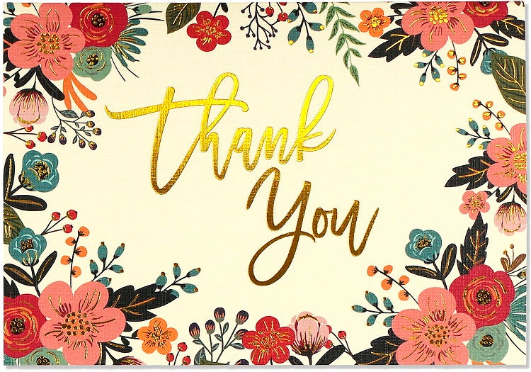 Peter Pauper - Floral Thank You Notes x 14