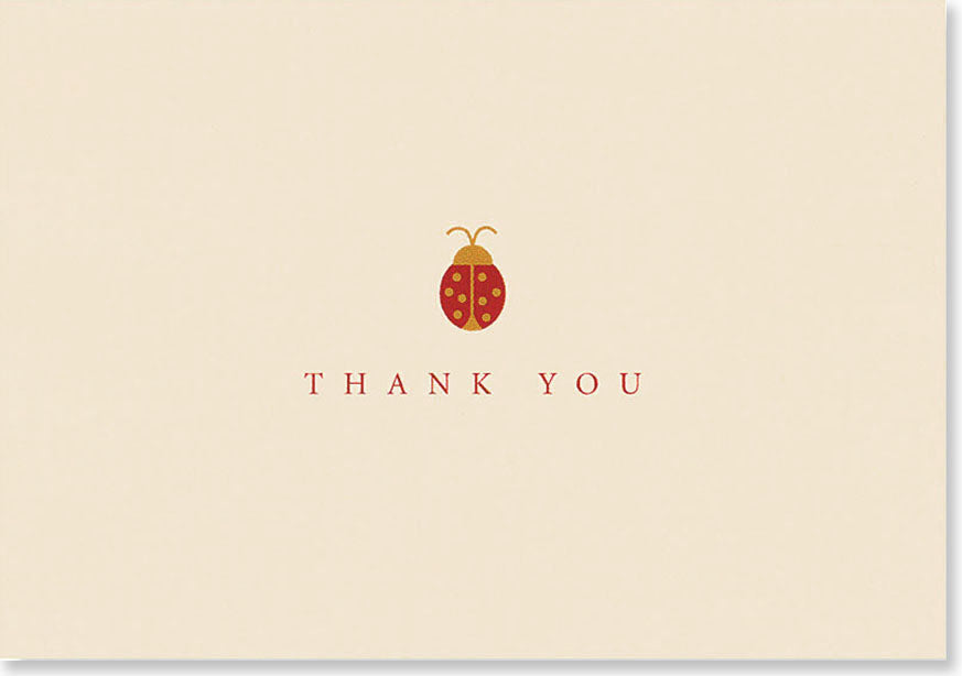 Peter Pauper - Ladybug Thank You Notes x 14