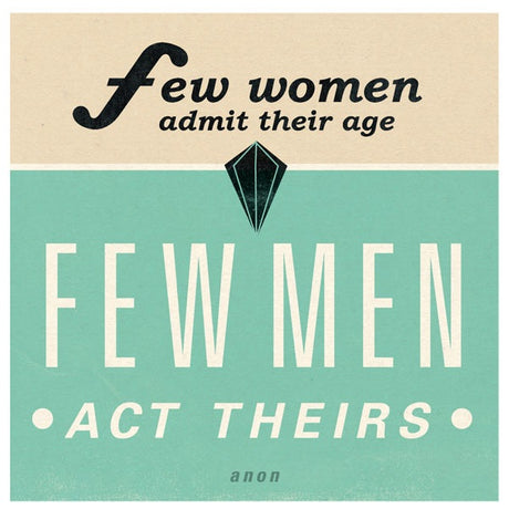 Few women, few men