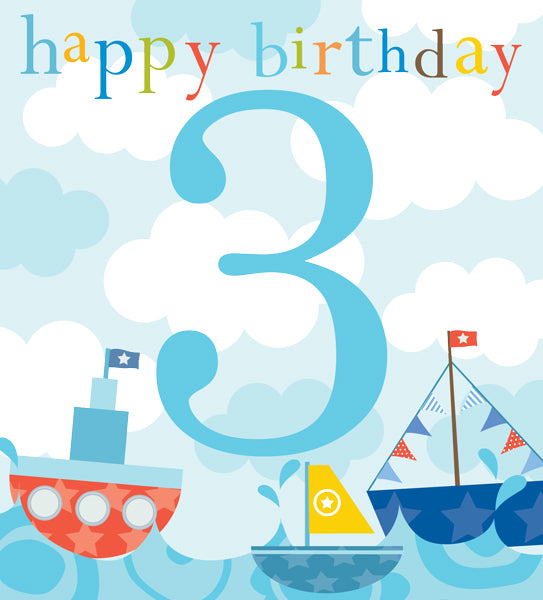 Think Of Me - 3rd birthday boats