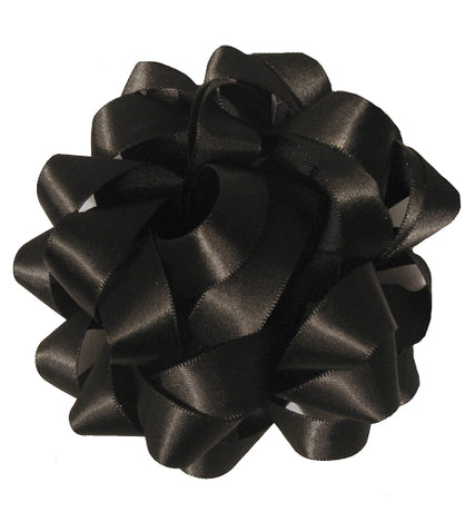 Satin bow - Black
