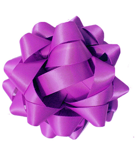 Satin bow - Purple