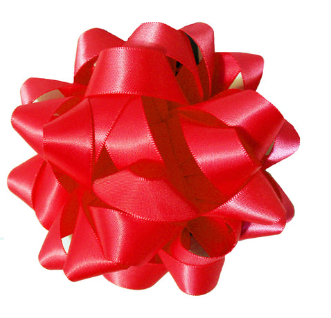 Satin bow - Red