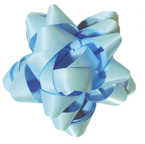 Satin bow - Soft Blue
