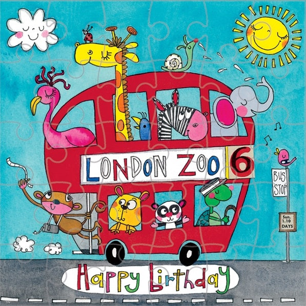 Jigsaw Card - London Bus