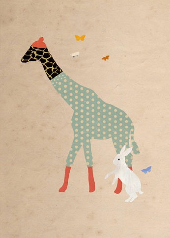 Giraffe and bunny