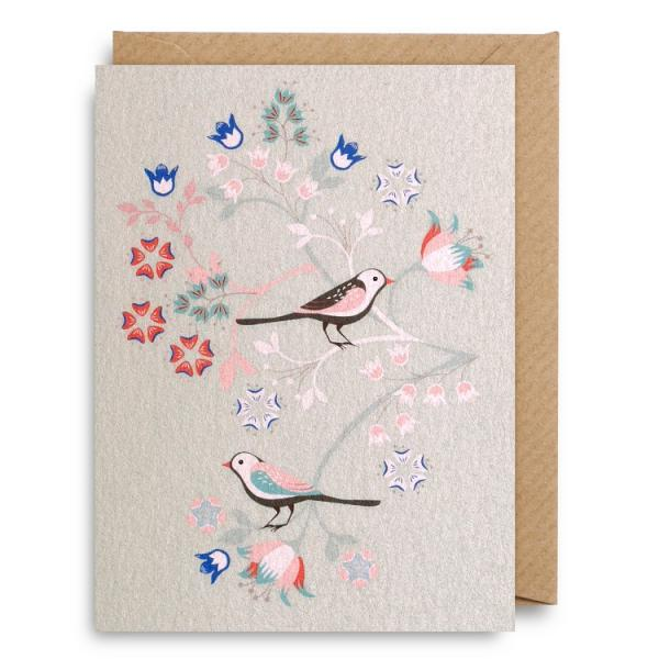 Birds on branches - Small card
