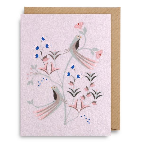 Pink birds - Small card