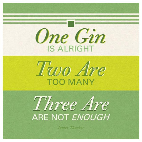 One, two, three gin