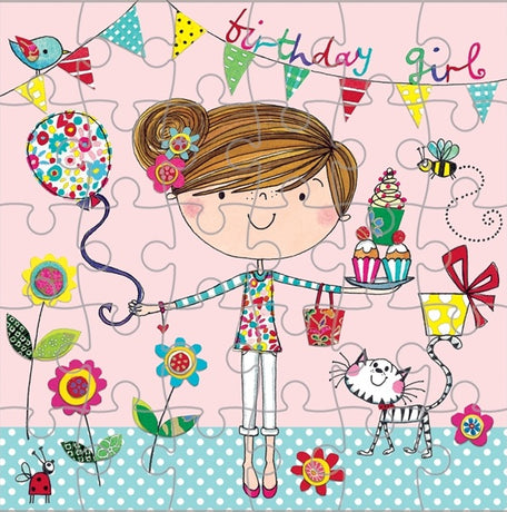 Jigsaw Card - Birthday Girl
