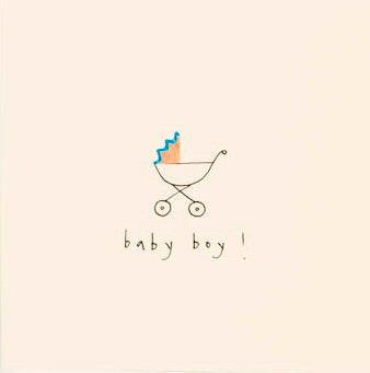 Pencil Shavings - Baby boy pram