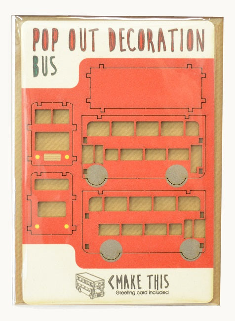 PopOut wooden Bus