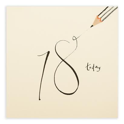 Pencil Shavings - 18th birthday