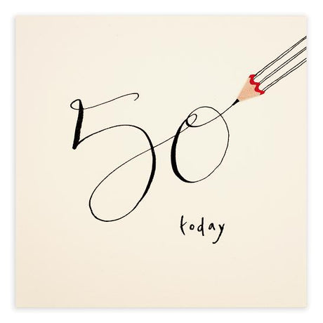 Pencil Shavings - 50th Birthday
