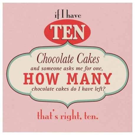Ten chocolate cakes.