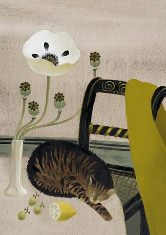 Mary Fedden - Sleeping cat
