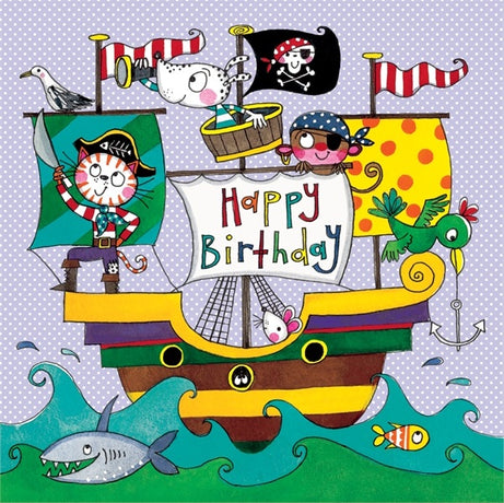 Jigsaw Card - Pirate ship