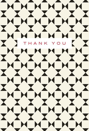 Geometric thank you notes x 10