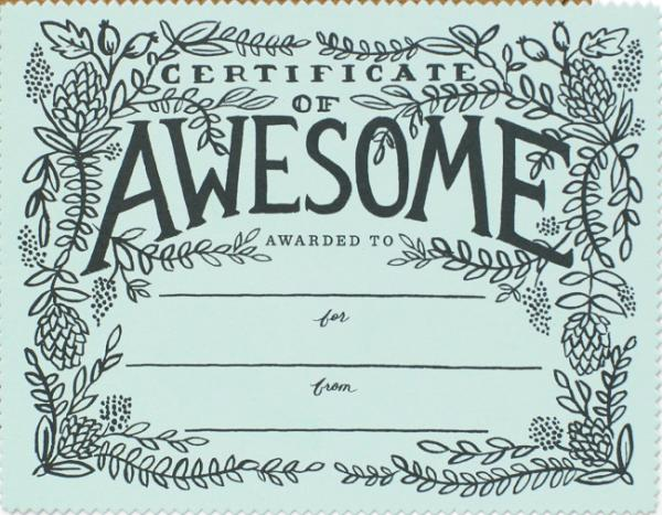 Rifle Paper -  Certificate Of Awesome