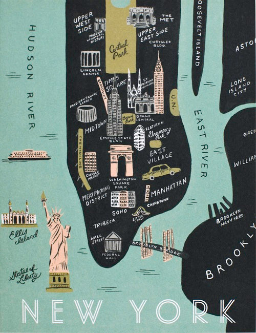 Rifle Paper - New York Map