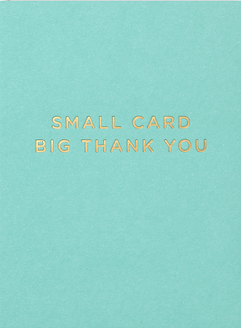 Lagom - Small Card Big Thank You
