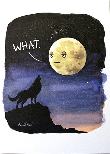 A Colourful Mind - Wolf and moon