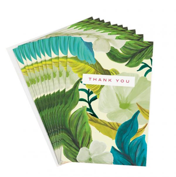 Leaf Floral thank you notes x 10