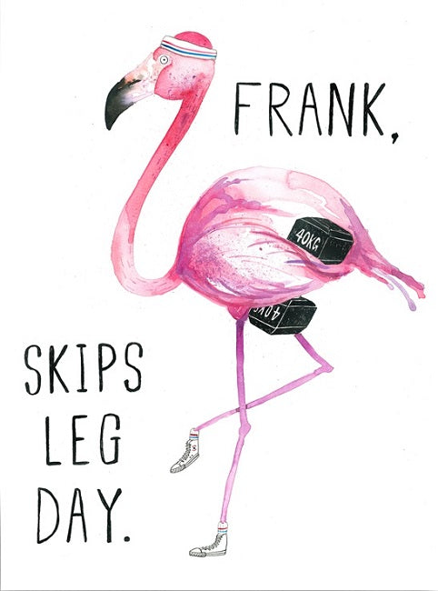Jolly Awesome - Flamingo Frank leg day