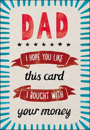 Woodmansterne - Dad birthday your money