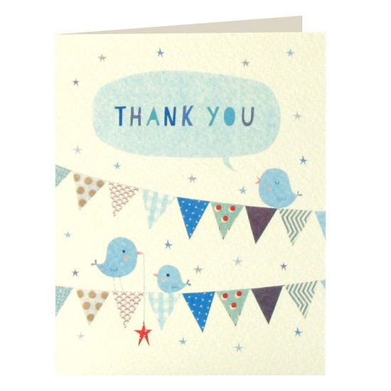 Blue bunting thank you x 5