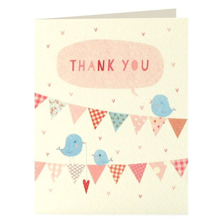 Pink bunting thank you x 5
