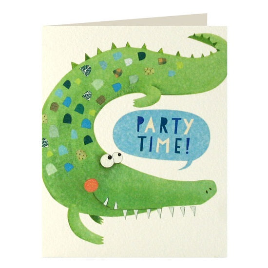 Crocodile invitations x 5