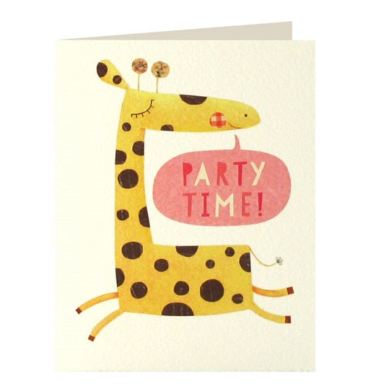 Giraffe invitations x 5